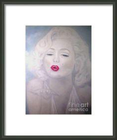 Blowing Kisses - Marilyn Monroe Framed Print              By Alexi Angelino  http://fineartamerica.com/profiles/alexi-angelino.html