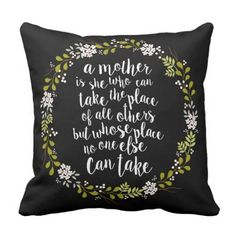 A Mom Is Every thing Quote Woodland Wreath Throw Pillow. *** See even more by checking out the image
