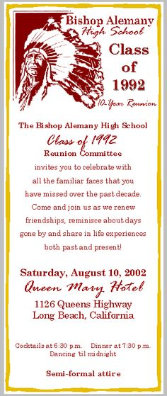 A personal favorite from my Etsy shop https\/\/wwwetsy\/listing - class reunion invitation template