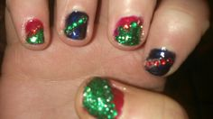 My christmas nails which I did
