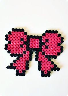 Perler beads bow