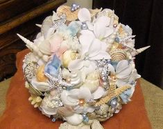 Items similar to Made to Order Classic and Simple Hinewai Seashell Bridal Bouquet FULL PAYMENT on Etsy