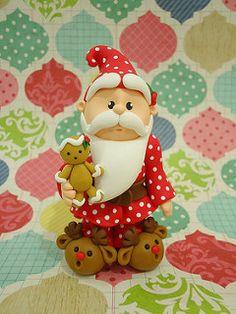 Santa in reindeer shoes.