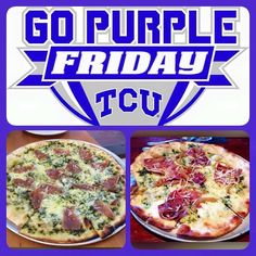 #GoPurpleFriday!! Show some SPIRIT and wear your TCU purple! You will get HALF OFF select appetizers & pizza from 11am-7pm today! Perfect timing for a GREAT Friday lunch too! This is for our Fort Worth location only!  #UniteForTheFight #BeatOSU #GoFrogs #lunch #FTW #StaySocial by socialhousedfw