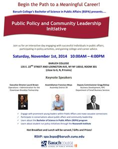 Public Policy and Community Leadership Initiative.