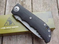 Lonewolf Harsey D-2 Double Action, Adams International Knifeworks Buck Knife 110, Unique Knives, Automatic Knives, Buck Knives, Leaf Spring, Lone Wolf, Knife Sharpening, Light In The Dark, Action