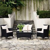 Found it at Wayfair - Napa Estate Indoor/Outdoor 4 Piece Deep Seating Group with Cushion - $840.64