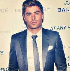 Zac Efron--he really wears a suit well.