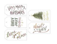 FREE Christmas Gift Tag Printables! #Free #Giftag #printable #xmas #Christmas