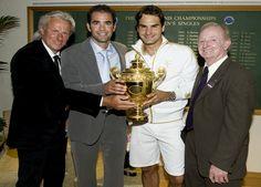 Bjorn Borg, Pete Sampras, Roger Federer, Rod Laver, Wimbledon 2009.