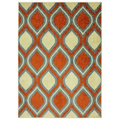 @Overstock.com - Modern Ogee Orange Rug (5' x 8') - Trendy and unique these ogee pattern rugs are vivid and stylish. The durable materials and construction of this rug make it a must have for years to come.  http://www.overstock.com/Home-Garden/Modern-Ogee-Orange-Rug-5-x-8/7950066/product.html?CID=214117 $112.65