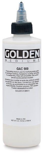 GAC 900 Fabric Medium. #goldenacrylics #art #supplies