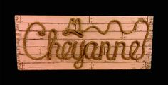 Country/Western Name Signs by ROPE & STYLE combines meticulous craftsmanship with detailed artistry and your custom personalization to give you a Western Names, Colored Rope, Western Parties, Stage Set, Name Signs, Shower Gifts, Girl Nursery, Photo Props, Westerns