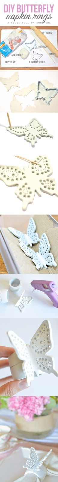 Easy DIY filigree butterfly napkin rings