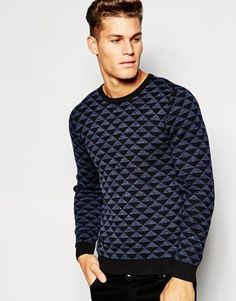 Esprit Triangle Jacquard Knitted Jumper