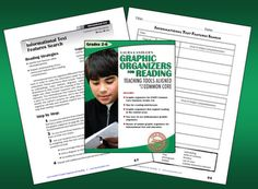 Free informational text features lesson from Laura Candler's Graphic Organizers for Reading: Teaching Tools Aligned with the Common Core