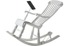 An iPhone- and iPad-charging rocking chair.
