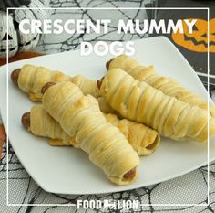 These Crescent Mummy Dogs have dinner all wrapped up for you. They're also great for Halloween parties. The ghouls and guys will love them!