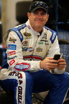 Bobby Labonte. Three broken ribs, now sidelined    Caution: getting healthy can be hazardous to your health.    Just ask Bobby Labonte.    A bicycling enthusiast, Labonte broke three ribs on his Wednesday ride around his Trinity, N.C., home, and he'll miss this weekend's Atlanta 500.  Labonte has six wins here, more than any other driver.  Mike Bliss will take over the James Finch Chevy, which Finch just sold to Harry Scott, who is a partner in the Turner-Scott Nationwide operation.