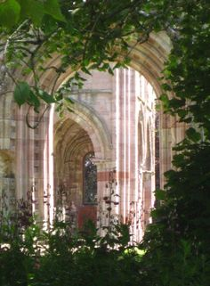 The rounded arches of Dryburgh Abbey, Scotland