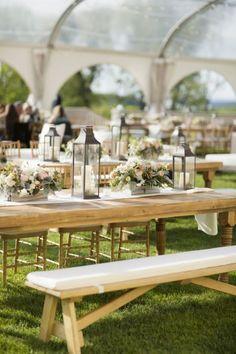 Outdoor wedding table: http://www.stylemepretty.com/new-york-weddings/huntington/2013/10/25/oheka-castle-wedding-from-mel-barlow-dm-events/ | Photography: Mel Barlow - http://www.melbarlowandco.com/