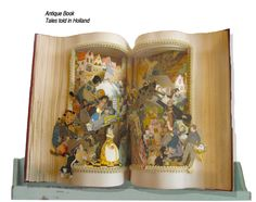 """Fairy tale altered book """"Tales Told in Holland"""" vintage book by Raidersofthelostart on Etsy"""