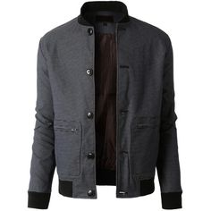 LE3NO Mens Lightweight Slim Fit Windbreaker Bomber Jacket ($37) ❤ liked on Polyvore featuring mens, men's clothing, men's outerwear i men's jackets
