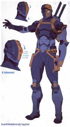Drawing Dc Comics Deathstroke I love you so much ! Character Drawing, Comic Character, Character Concept, Character Design, Concept Art, Dc Deathstroke, Deathstroke The Terminator, Deathstroke Cosplay, Comic Books Art