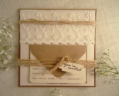 Cream Lace Wedding Invitation https://www.etsy.com/listing/230232441/cream-lace-wedding-invitation-brown-lace?ref=shop_home_active_12