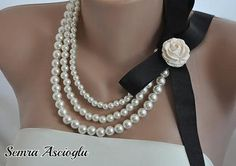 Bridesmaids gifts Handmade Weddings Pearl Necklace by kirevi8, $58.00