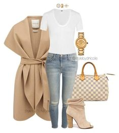 """""""Untitled by stylebydnicole ❤ Forever New, Louis Vuitton, Helmut Lang, Current/Elliott, Kristin Cavallari and Versace Chic Outfits, Fall Outfits, Fashion Outfits, Womens Fashion, Fashion Trends, Ladies Fashion, Fashion Clothes, Fresh Outfits, Classy Outfits"""