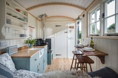 Gallery — Shepherds Huts For Sale Cornwall - Pumphrey & Weston Small Tiny House, Tiny House Living, Tiny House Design, Tiny House On Wheels, Rv Living, Small Space Living, Small Spaces, Shepherds Hut For Sale, Tyni House