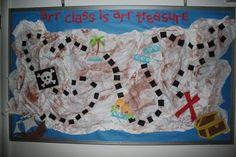 treasure map bulletin board-