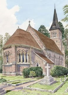Ottershaw Church Surrey - Church Art by John Lynch