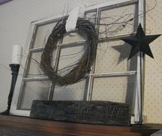 old window crafts | Pieced Pastimes: Christmas Mantel for 2010