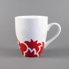 For your special someone who loves tea & coffee. White porcelain cup ...