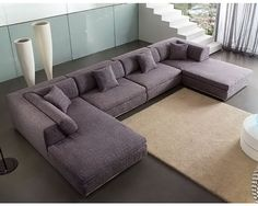 Nice big living room couch to lay around on.