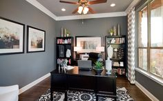 liking the gray tones for a shared husband wife office