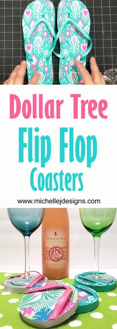 I love a good Dollar Store project. You will love this Dollar Tree Flip Flop coasters DIY project. Beach Crafts, Diy Home Crafts, Decor Crafts, Dollar Store Hacks, Dollar Stores, Diy Furniture Making, Beach Wall Decor, Diy Coasters, Dollar Tree Crafts
