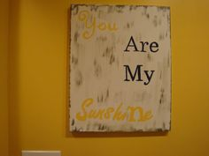 You are my Sunshine  Canvas Painting by ChristCrossDesigns on Etsy