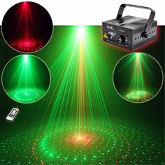AUCD 20 Pattern Red Green Laser Projector 3W Blue LED Background Mixing Light DJ KTV Show Party Wedding Stage Lighting Z20RG #Affiliate