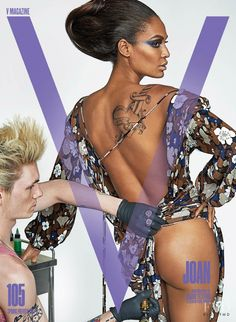 Joan Smalls featured on the V Magazine cover from January 2017