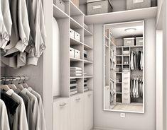 Project of wardrobe Gdańsk on Behance Walk In Closet Small, Small Closets, Custom Closet Design, Wardrobe Design, Kitchen Interior, Home Interior Design, Kitchen Design, Modern Minimalist, Minimalist Design