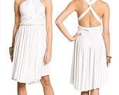 Convertible Dress in ivory -environmentally friendly
