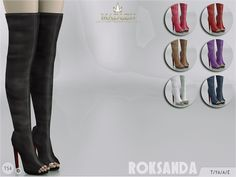 Madlen Roksanda Boots by MJ95 at TSR via Sims 4 Updates
