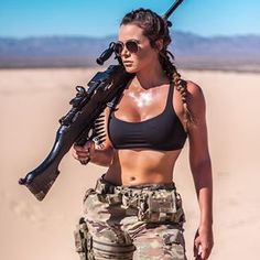 Image may contain: 2 people, people standing, sky and outdoor - Girls with Guns - Women in Uniform Mädchen In Uniform, Photographie Indie, Female Soldier, Army Soldier, Military Women, Military Female, Military Girl, Warrior Girl, Big Guns