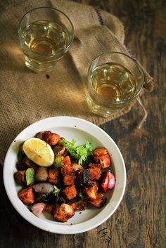 Paneer Tikka with Grilled Vegetables