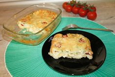 CLAFOUTIS CU TELEMEA, SPANAC SI ROSII CHERRY Quiche, Macaroni And Cheese, Eggs, Pudding, Dinner, Breakfast, Ethnic Recipes, Health, Desserts