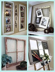 Ideas for old window frames! by leanna