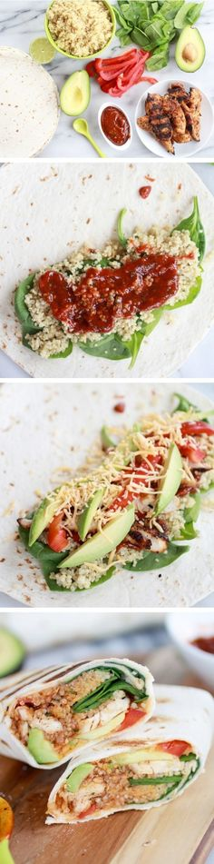 Tex-Mex Chicken & Quinoa Wraps
